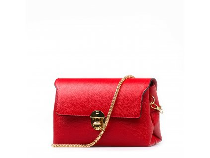 662f983929 Kožená kabelka Tosca červená