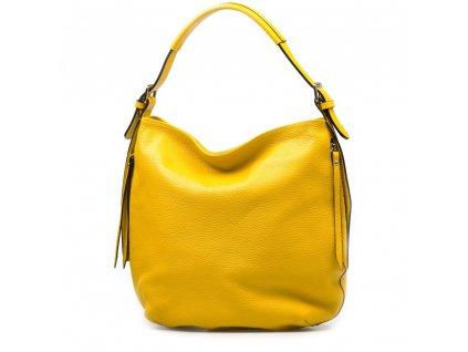 Kožená maxi kabelka Telsa žlutá