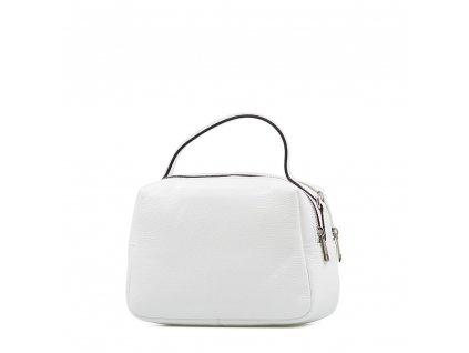 Kožená kabelka Nina bílá