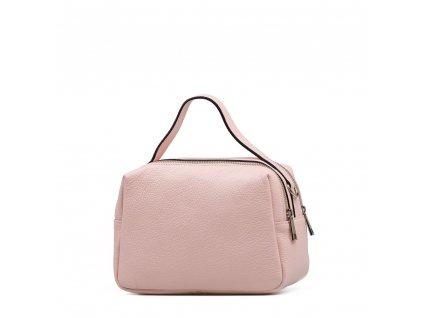 Kožená kabelka Nina růžová