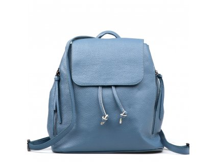 Kožený batůžek Tami azurově modrý