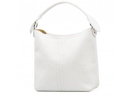 Kožená shopper kabelka Casilda bílá