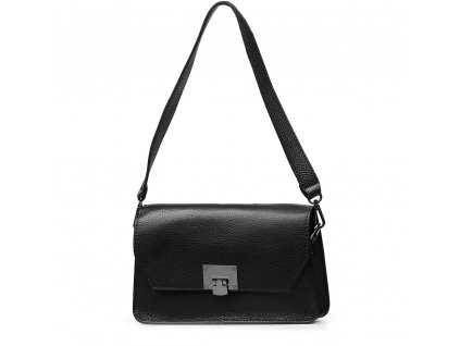 Kožená kabelka Billie černá