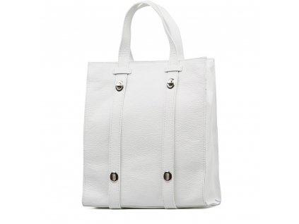 Kožená shopper kabelka Bonella bílá