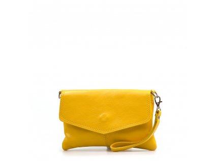 Kožené psaníčko Diana žluté