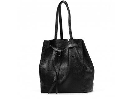 Kožená kabelka Blanda černá