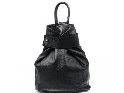 Kožený batůžek Alma černý