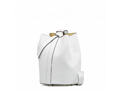 Kožená kabelka Juliette bílá