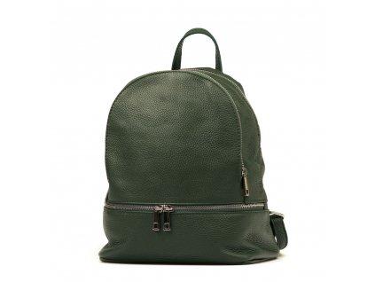 Kožený batůžek Zula zelený