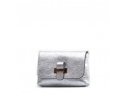 Kožená kabelka Ofra stříbrná