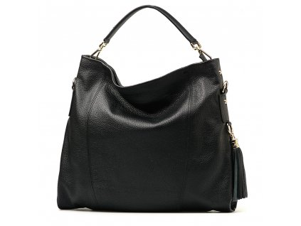 Kožená kabelka Salita černá