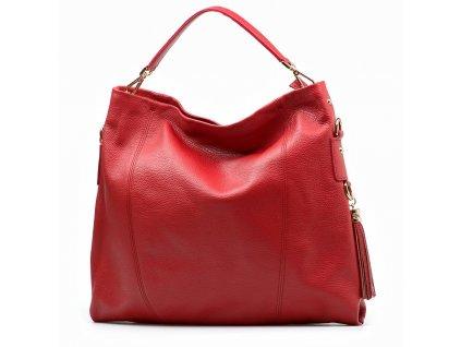 Kožená kabelka Salita červená