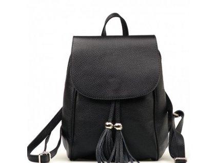 Kožený batůžek Petty černý
