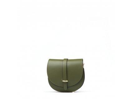 Kožená kabelka Gerda zelená