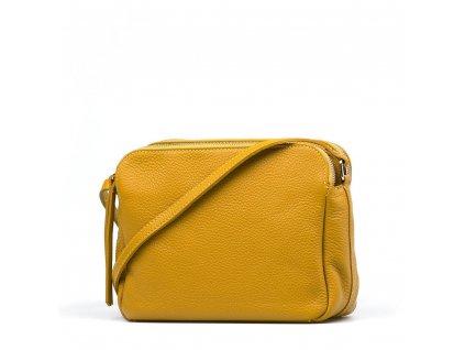 Kožená crossbody kabelka Leia hořčicově žlutá