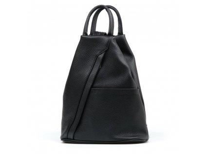 Kožený batůžek Sammy černý
