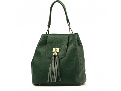 Kožená kabelka Sergia zelená
