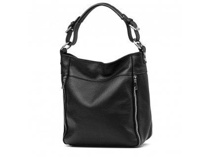 Kožená kabelka Funny černá