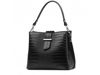Kožená kabelka Miriam černá