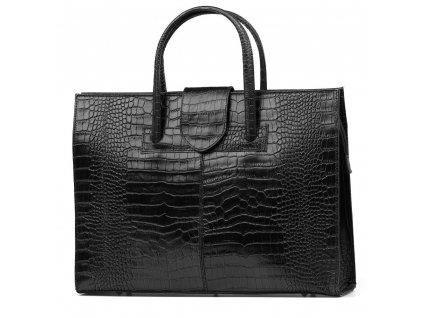 Kožená kabelka Marinela černá