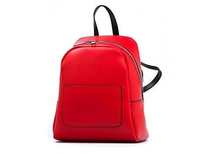 Kožený batůžek Betsy červený
