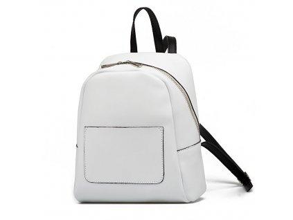 Kožený batůžek Betsy bílý