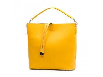 Kožená kabelka Kim žlutá