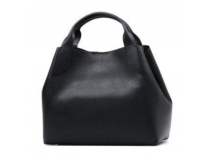 Kožená kabelka Elen černá