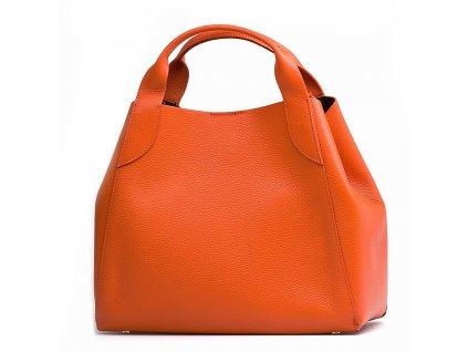 Kožená kabelka Elen oranžová