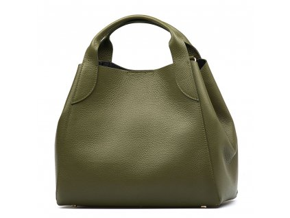Kožená kabelka Elen zelená