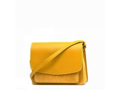 Kožená crossbody kabelka Tamira hořčicově žlutá