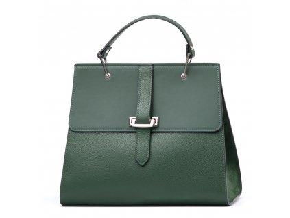 Kožená kabelka Belia zelená