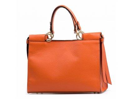 Kožená kabelka Fatin oranžová