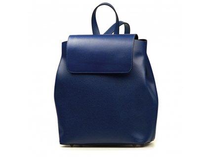 Kožený batůžek Allesia modrý