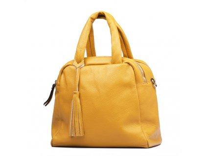 Kožená kabelka Liliane hořčicově žlutá