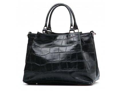 Kožená kabelka Gris černá