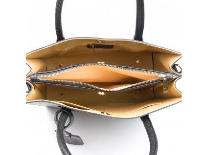 Kožená kabelka Delma černá