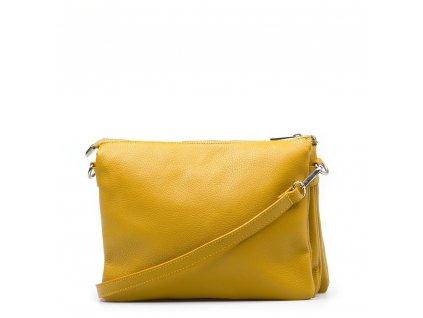 Kožená crossbody kabelka Gilberta hořčicově žlutá
