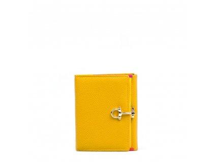 Kožená peněženka Lily žlutá