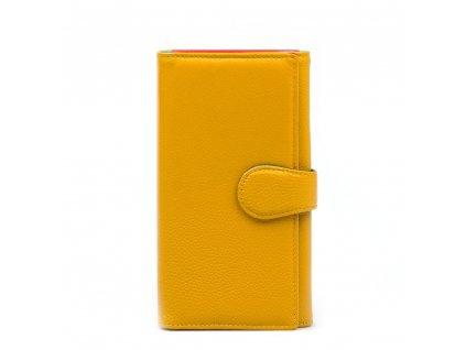 Kožená peněženka Colette hořčicově žlutá
