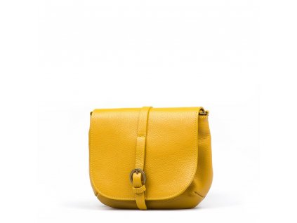 Kožená crossbody kabelka Liss hořčicově žlutá