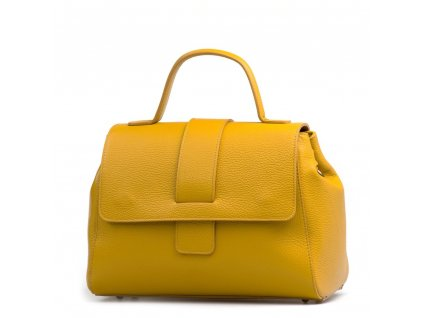 Kožená kabelka Laia hořčicově žlutá