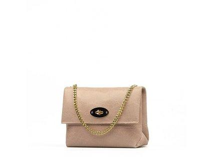 Kožená kabelka Victoria růžová