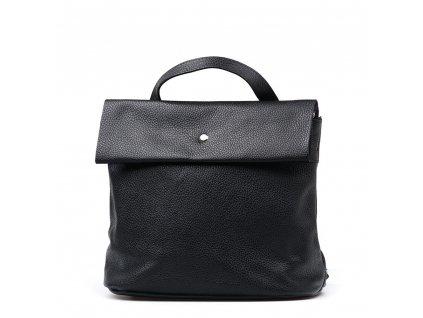 Kožený batůžek Veria černý