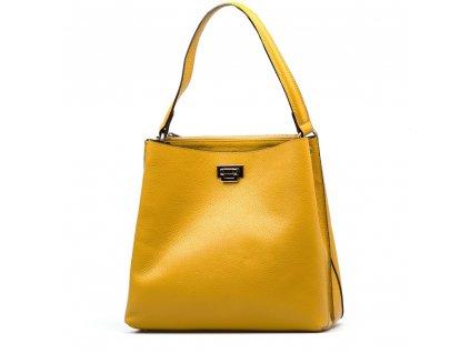 Kožená kabelka Nada hořčicově žlutá