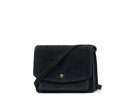 Kožená crossbody kabelka Margery černá