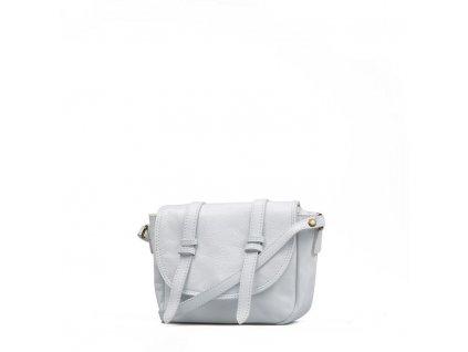 Kožená kabelka Ginnette bílá