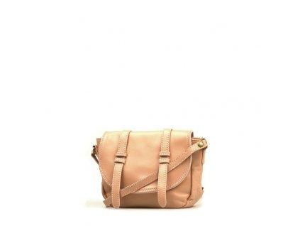 Kožená kabelka Ginnette starorůžová