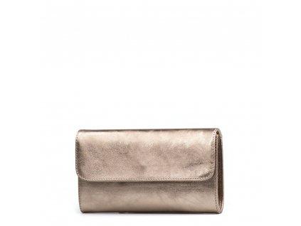 Kožená kabelka - psaníčko Felity bronzová