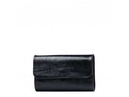 Kožená kabelka - psaníčko Felity černá